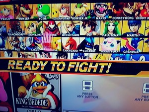super smash bros Wii U characters