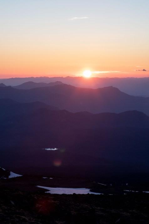Sunset over Takhlakh Lake