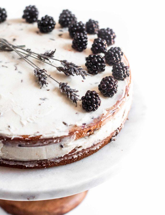Blackberry Lavender Cake