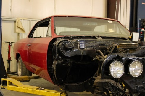 This car is being rebuilt from the frame up
