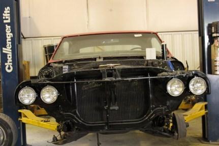 Car being rebuilt