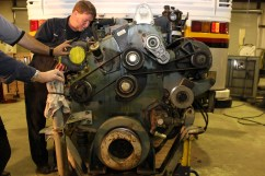Charter Bus Engine