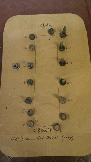 Valve Cover BoltStud Diagram('97)  Jeep Cherokee Forum