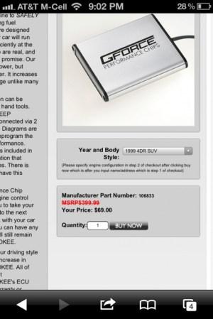 GForce Performance Chip  Jeep Cherokee Forum