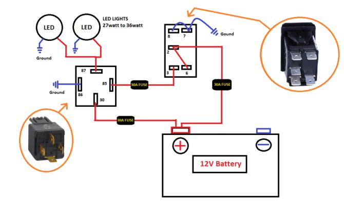 12v lighted rocker switch wiring diagram  1974 jeep cj5