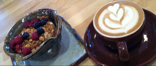Up Cafe, Handmade Ceramic Pottery, Latte Art, Food Served from Pottery