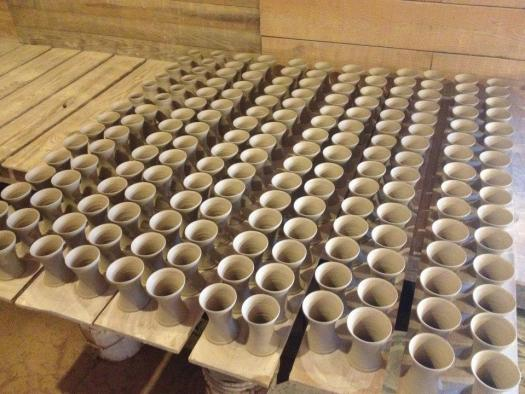 Mark Hewitt, Pottery Production, Coffee Mugs