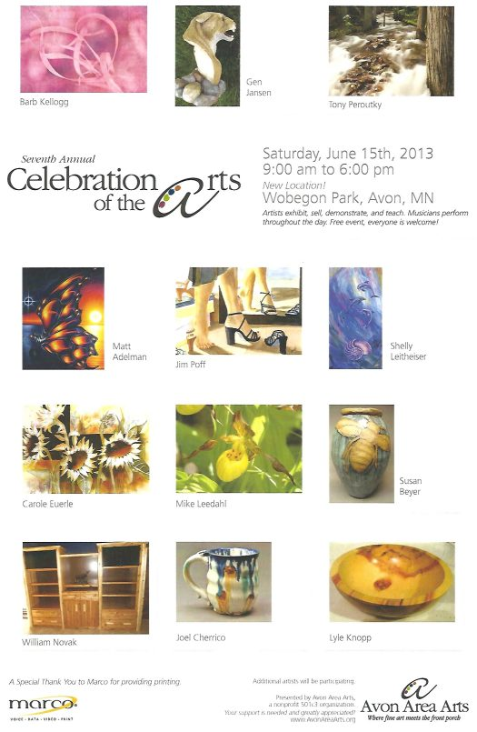 Celebration of the Arts Poster, 2013