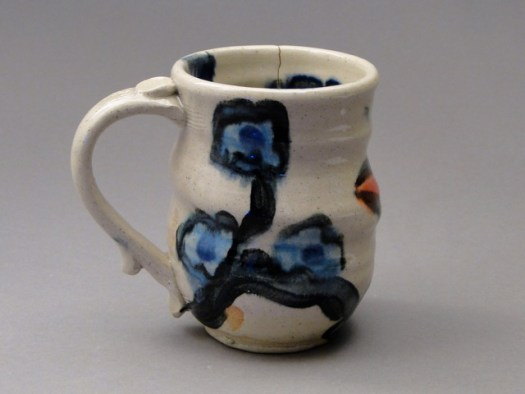 Paige Dansinger and Joel Cherrico Collaboration, Artist Pottery, Stoneware Mug, 20141