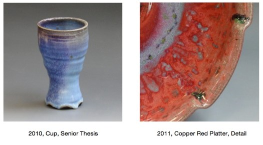 Copper Red Glazes, Salt and REduction Fired, Joel Cherrico Pottery