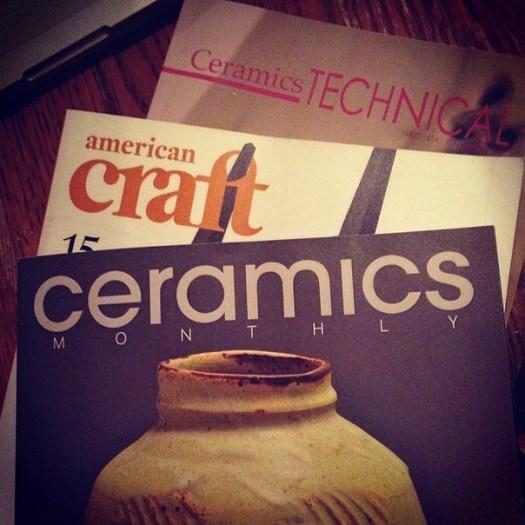 Ceramics Monthly, American Craft Council, Ceramics Technical magazine, Joel Cherrico Pottery Writing Publications
