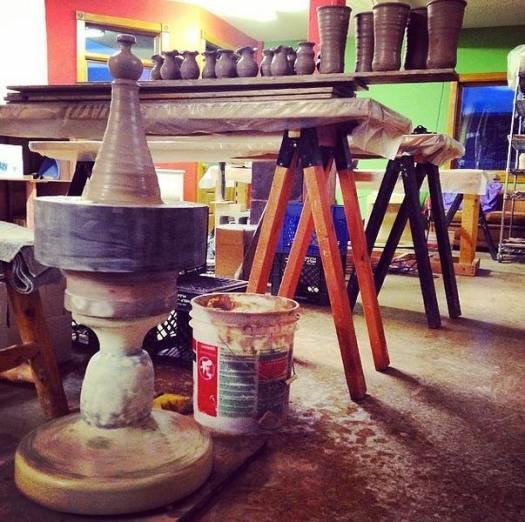 Prairie Fire Pottery, Joel Cherrico Pottery, Stoenware Hump Throwing, York Kick Wheel