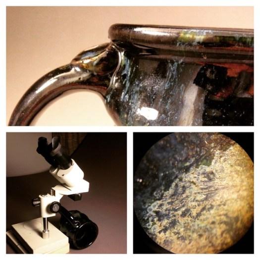 Cherrico Pottery, Cosmic Mug, Cosmos, Microscope, Pottery, 2015