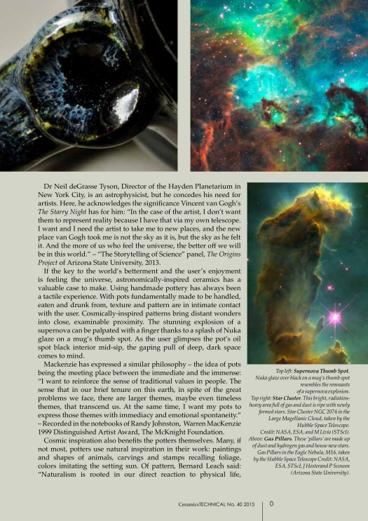 Uniting Potters and the Public through the Cosmos, Cherrico Pottery, Marissa Deml, Cosmic Mugs, Page 2
