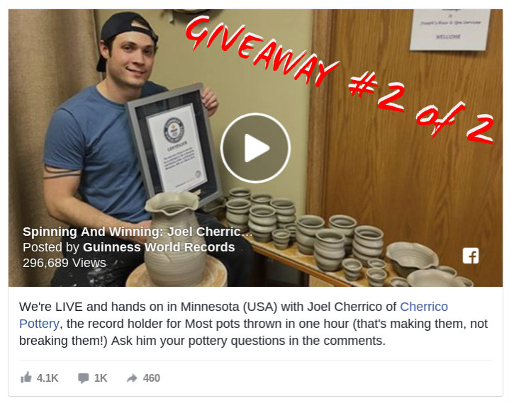 d6c09b737461 Giveaway  2 of 2  Free World Record Pottery