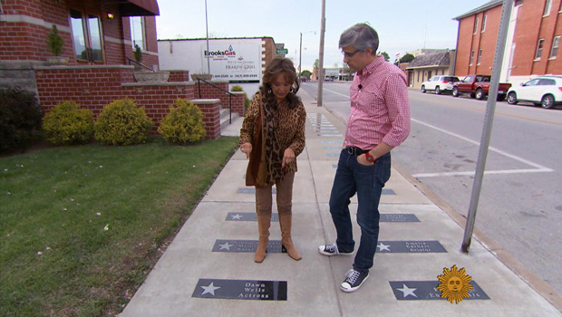 Dawn Wells and Mo Rocca at the Missouri Walk of Fame
