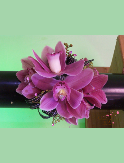 Pink Orchid Corsage Cherry Blossoms Florist