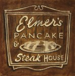 Elmer's Pancakes 16x16, Acrylic and Mixed Media on Panel (2003) by Cherry Capri