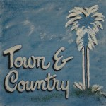 Town and Country 16x16, Acrylic and Mixed Media on Panel (2003) by Cherry Capri