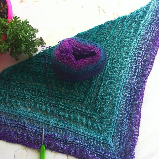 Thats my current work in progress a secretpathsshawl crocheted withhellip