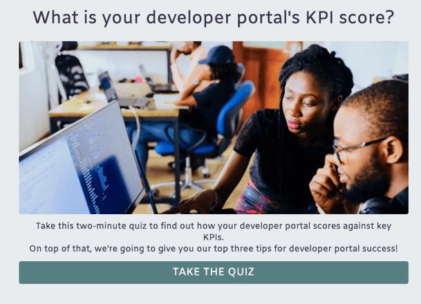 What is your developer portal's KPI score?