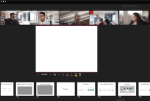 Screenshot of class delivered over Microsoft Teams