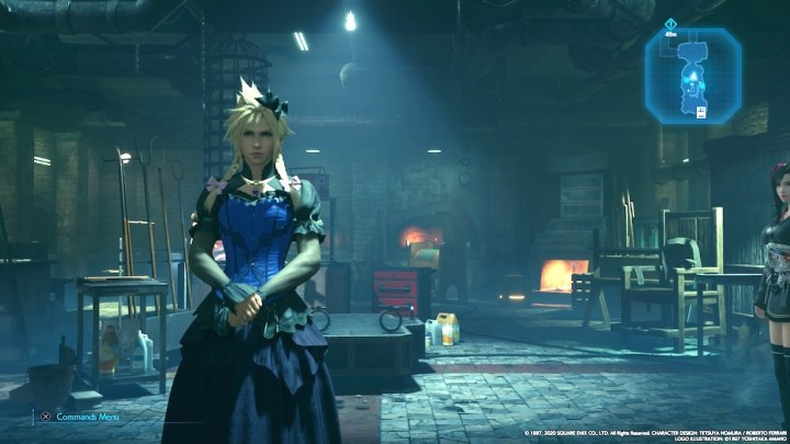 One of Cloud's three dresses in Final Fantasy 7: Remake.