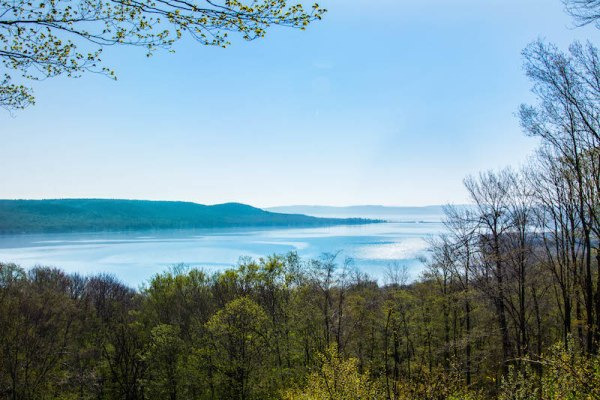 The view from Glen Lake Overlook