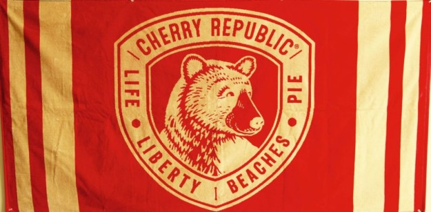 Crest beach towel