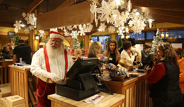 Even Santa likes to stop in and help at Cherry Republic