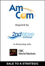 Cherry Tree Announces the Sale of Amcom Software to 2ndWave Software, LLC