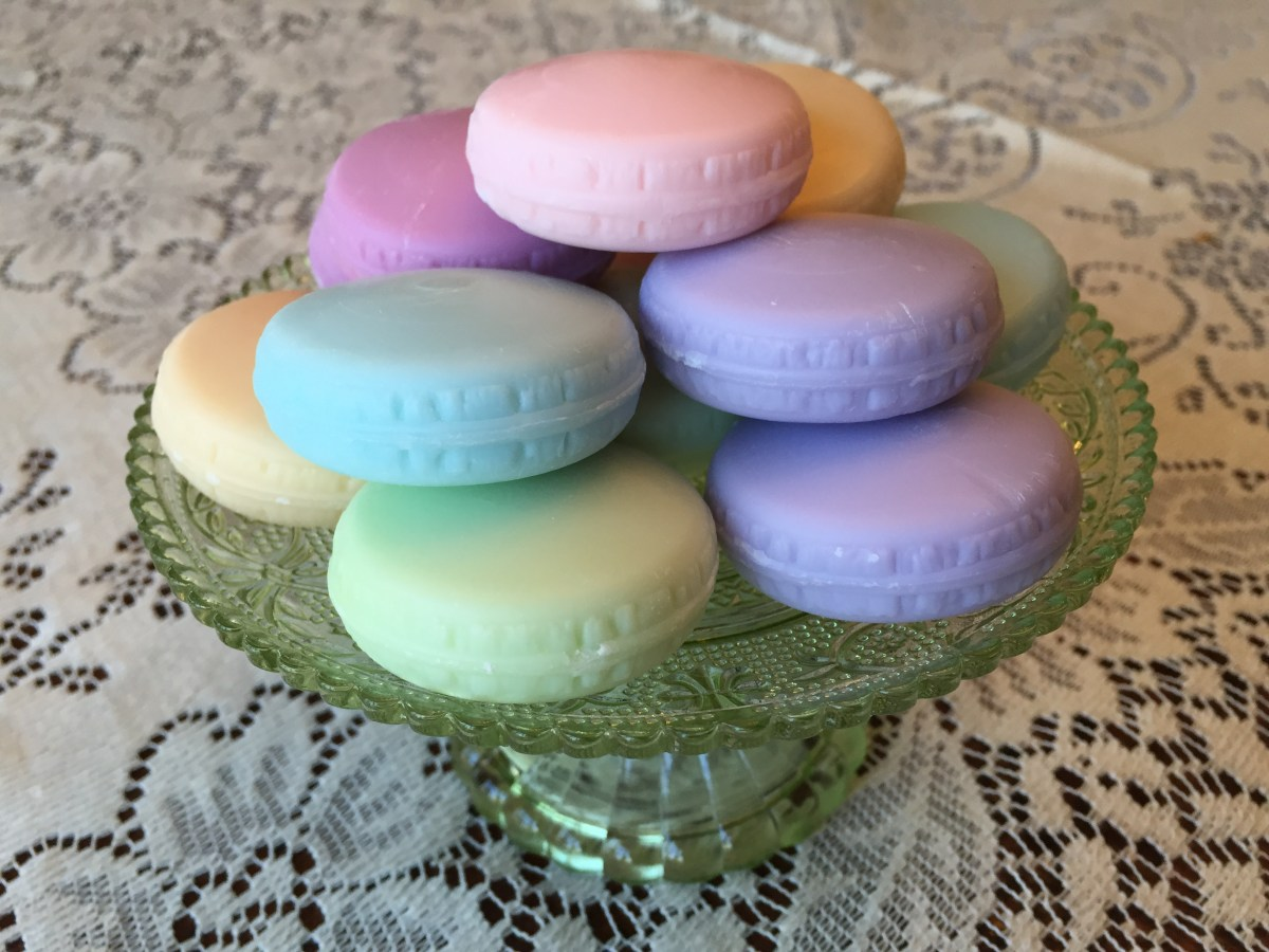 French macaroon soap display