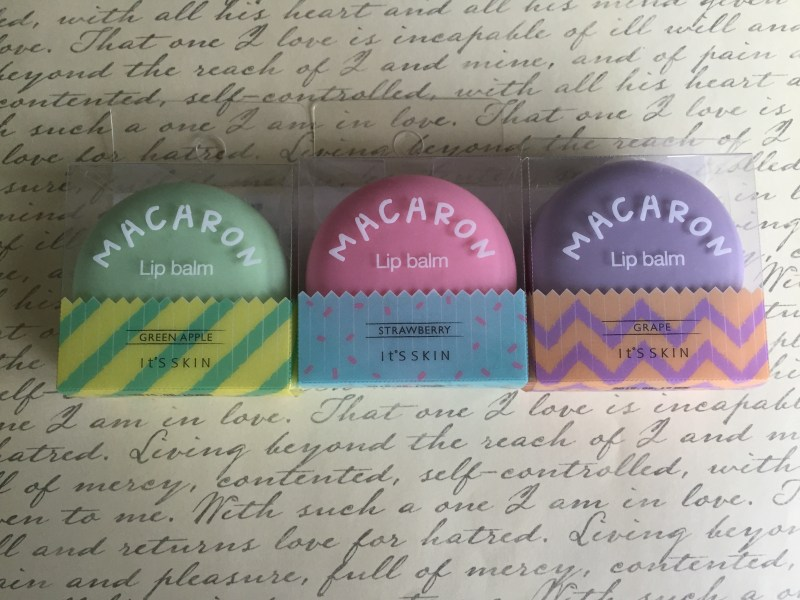 French macaron lip balm packaging