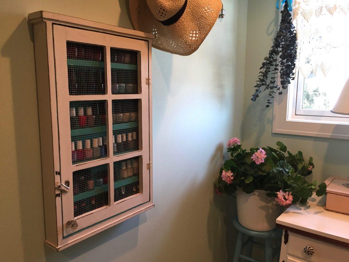Etsy Find: Nail polish storage cabinet