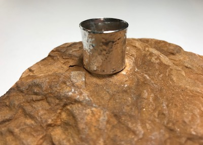 Hammered Sterling Silver Wide Band Ring