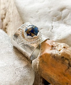 Silver Ring with Lapis Stone