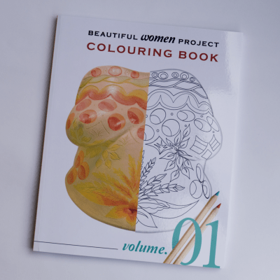 Volume 1 of the Beautiful Women Project colouring e-books