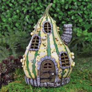 fairy village striped gourd house