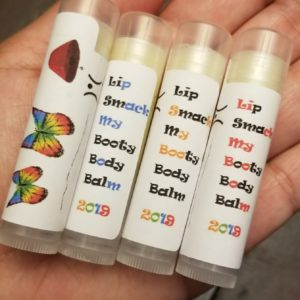 Assorted lip and body balms