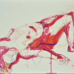 Red Gesture (caran d'ache on watercolor paper)