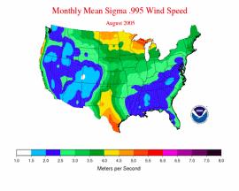 NOAA wind map 2005