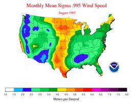 NOAA Wind Map 1985