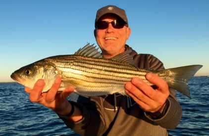 Gary's brother, Scott, with rockfish