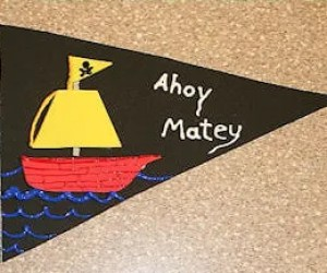 Make your own pirate flag - Pirate Activities for kids
