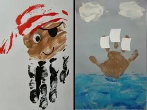 Pirate handprint crafts