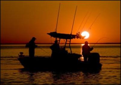 Chesapeake fishing at sunrise by Jay Fleming