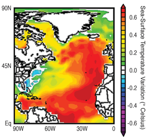 AMO map from the NOAA Earth System Research Laboratory