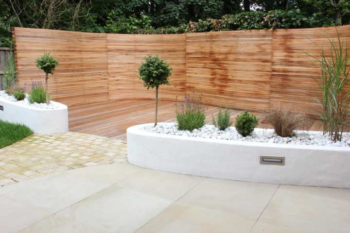 completed decing and Fencing, knutsford garden