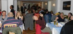 Everyone enjoying Curry Night in the Blue Ginger