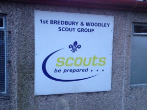 Woodley Scout Sign